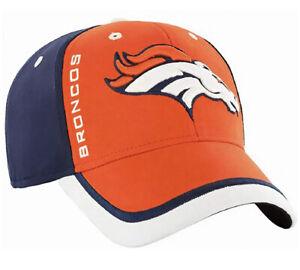 Denver Broncos Crash Line Contender Hat Cap Flex Stretch Fit Adult