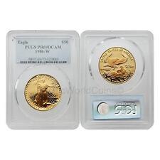 USA 1986W Eagle $50 1 oz Gold PCGS PR69DCAM