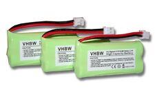 3x Baterias para Siemens Gigaset A12 / A14 / A16 / A24 / A26 / A120 / A140