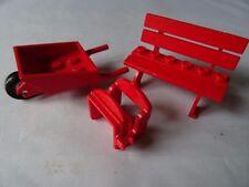 LEGO RED SADDLE WHEEL BARROW & FABULAND BENCH/SEAT  (2041)