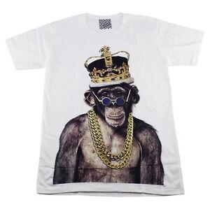 Monkey King Men T-Shirt White Hipster Indie Street Fashion Casual ARAINA #AR107