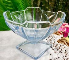 Art Deco Blue Glass Bowl