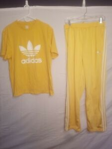 Adidas Trefoil Firebird Track Pants With Shirt Sz XL and L Pants