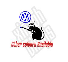 Vw Rata BANKSY pegatina de vinilo estilo calcomanía portátil coche Jdm Euro Dub Camper Van Gti