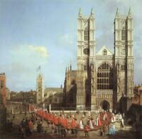 """oil painting handpainted on canvas """" Westminster Abbey """"@N15736"""