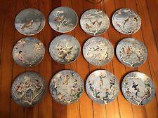 Haviland Limoges Twelve Days Of Christmas Plates 1970-1981 Complete Set Of 12