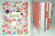 """I Love London ORGANISER JOURNAL BOOK Floral 7x6"""" Diary Planner Note List WALLETS"""
