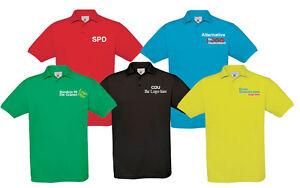 Politica Campagna Elettorale Scomparti Polo, B&C T-Shirt Con Colletto Stampa,