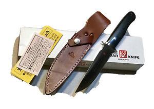 VINTAGE AL MAR PENTAGON SEKI JAPAN DAGGER KNIFE W/SHEATH BOX PAPERS MINT