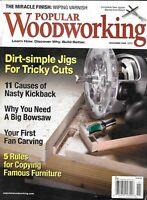 Popular Woodworking Magazine Simple Jigs Skateboard Build Big Bowsaw Furniture