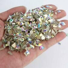 100pcs Crystal Nail Art Rhinestones FlatBack Glitter Mix Shape Diamond 3D Tips