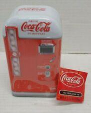 Coca Cola Vending Machine Small Storage Tin Strawberry Candy