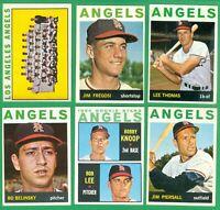 1964 TOPPS CALIFORNIA ANGELS TEAM SET  VG/EX-EX  FREGOSI  KNOOP RC  PIERSALL