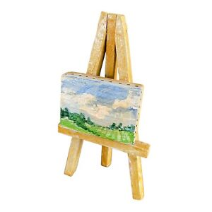 """CAW Connie Roberts Wooden Easel with Painting - 5"""" Tall"""