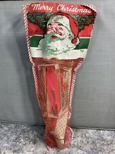 Vintage Nos 1940s-1950s Christmas Stocking Fishing Supplies Tackle Gift Shop