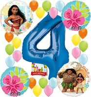 Moana Party Supplies Birthday Decorations Number Balloon Bundle for (4th Birt...