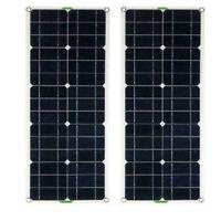 2PCS Solarpanel Solarmodul 100Watt 12V 12Volt Solarzelle Solar Monokristallin