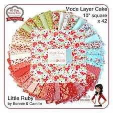 Moda Little Ruby Layer Cake Squares modern quilting fabric vintage retro floral