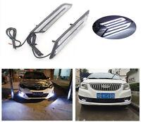 Car DRL DaytimeRunning Light HID White High Power Blade Shape LED 2Pcs Universal