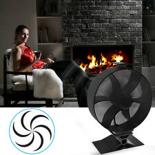 Wood Fireplace Heat Powered Stove Fan Silent Heat Top Environmentally Friendly
