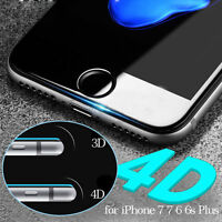 4D Full Cover Tempered Glass Curved Screen Protector For iPhone 6s 7 Plus TY AU