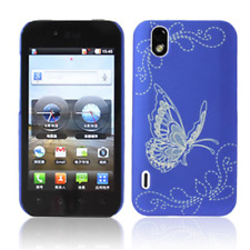 Case in PVC Blue with Butterflies for LG P970 Optimus Black
