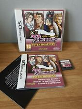 Ace Attorney Investigations: Miles Edgeworth (Nintendo DS) Vgc Boxed with Manual