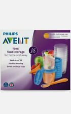 Philips Avent Baby Food Storage Cups, 180/240 ML, Pack 20 (10 each) + baby spoon