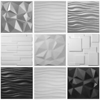 "3D Wall Panels PVC 13 Tiles Textured Bricks Art Design DIY 19.7""x19.7"" Wallpaper"