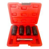 5-Piece Metric Twist Socket Set Lug Nut Remover Extractor Tool