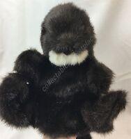 Folkmanis Sea Otter Plush Full Body Hand Puppet Folktails Black