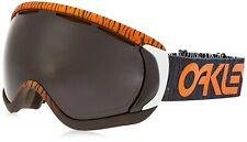 New OAKLEY CANOPY SNOW Factory Pilot Bengal Orange w/ Dark Grey OO7047-38 047