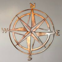 Nautical Star Scene Wall Metal Art Rustic Copper Metal Wall Art Hanging