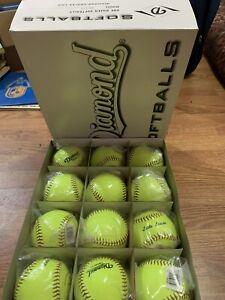Diamond Official 12 Inch Fast pitch Softballs Dozen NEW
