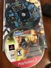 WWF Smackdown 1 & Smackdown Vs. Raw 2009 PS1/PS2 Wrestling WWE Lot Bundle