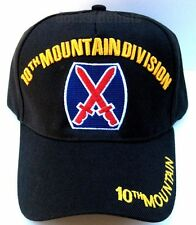 10TH MOUNTAIN DIVISION Cap/Hat Black New U.S. Military FREE Shipping