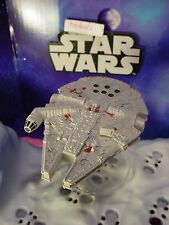 STAR WARS✰MILLENNIUM FALCON✰with flight stand✰Hot Wheels loose Starship