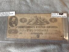 1862 Confederate States of America Two Dollar Bill, First Series - Richmond