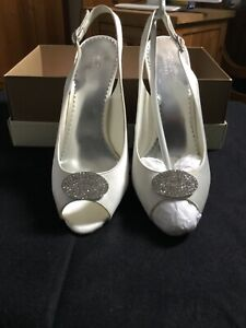 Ladies Monsoon Wedding Bridal Shoes Size 6.5