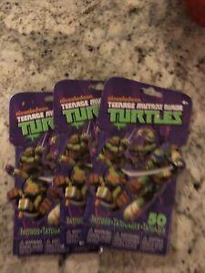 NEW Teenage Mutant Ninja Turtles 3-50 Pack Temporary Tattoos