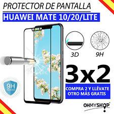 Protector Pantalla Huawei Mate 10/Lite Mate 20/Lite Cristal Templado 3D 9H