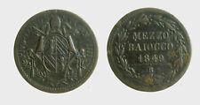 s539_67) Pontificio  Pio IX  (1846-1870) ½  Baiocco 1849 R