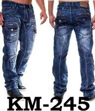 W32 L32 KOSMO LUPO Herren Jeanshose Straight Cut Designer Jeans Hose KM245