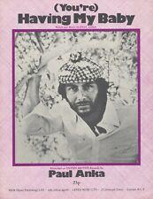 (You're) Having My Baby - Paul Anka - 1974 Sheet Music