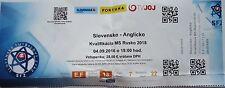 Online ticket WM qu. 4.9.2016 eslovaquia-inglaterra en Trnava