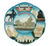 Teller Madrid Highlights,Souvenir Wandteller 20 cm Spanien Espana,Puerta Alcana
