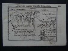 1609 LANGENES  Atlas Kaerius map  NEW GUINEA - Nova Guinea - Solomon Islands