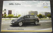 Gebruikershandleiding Opel Zafira B Betriebsanleitung Onderhoud Stand 08/2008!