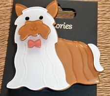 Cute Yorkshire Terrier Dog Lucite  Brooch Pin