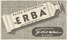Y3165 Pasta dentifricia ERBA Gi.vi.emme - Pubblicità del 1939 - Old advertising